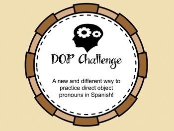 Direct Object Pronoun Challenge Game