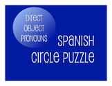 Spanish Direct Object Pronoun Circle Puzzle