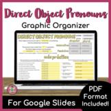 Direct Object Pronoun Graphic Organizer
