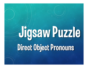 Spanish Direct Object Pronoun Jigsaw Puzzle