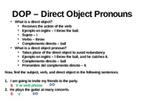 Direct Object Pronoun Lesson