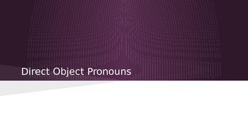 Direct Object Pronoun Partner Responding Roles