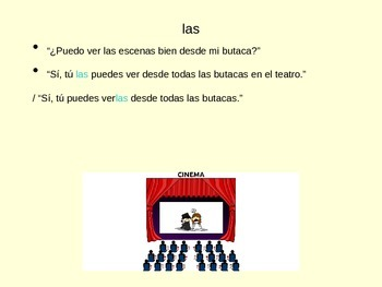 Direct Object Pronoun PowerPoint - Includes Buen Viaje Chapter 10 vocab
