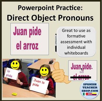Direct Object Pronoun Practice Spanish