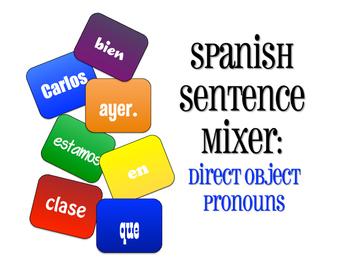 Spanish Direct Object Pronoun Sentence Mixer