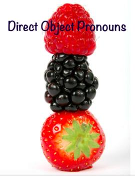Direct Object Pronoun - Spanish Unit - Pronombres de Objetos Directos