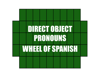 Spanish Direct Object Pronoun Wheel of Spanish