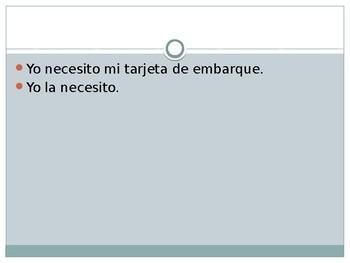 Direct Object Pronoun Whiteboard Activity