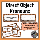 Direct Object Pronoun in Spanish: Sentence Pairing