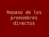 Spanish Direct Object Pronouns Grammar PowerPoint