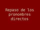Spanish Direct Object Pronouns Grammar PowerPoint