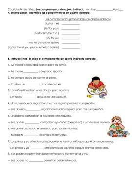 Direct Object Pronouns- Context Childhood (la niñez) (Realidades 2, Chapter 4A)