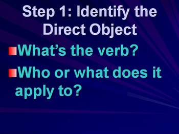 Direct Object Pronouns: Inductive Text, Notes, and Practice Activities