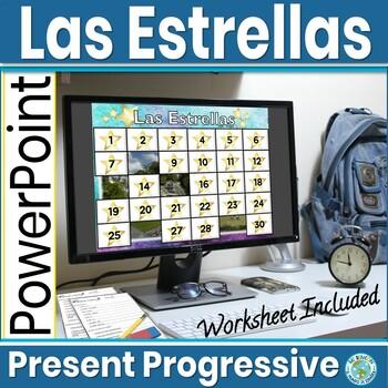 Spanish Present Progressive Activity Las Estrellas