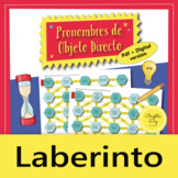 Direct Object Pronouns – Maze Practice Activity with Digital Version, Spanish
