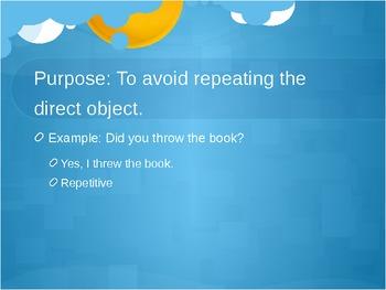 Direct Object Pronouns PowerPoint