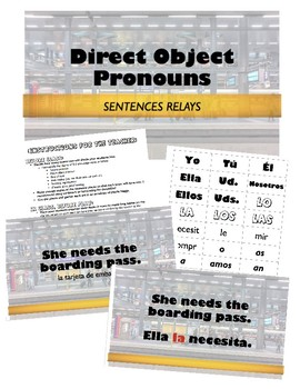 Direct Object Pronouns - Sentence Races
