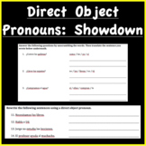 Direct Object Pronouns: Showdown