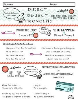 Direct Object Pronouns - Spanish