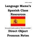 Direct Object Pronouns Spanish Apuntes