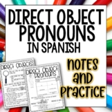 Direct Object Pronouns Spanish Doodle Pages Worksheets and Notes