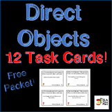 Direct Object Task Cards ~ Great for Centers & Test Review