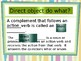 Direct Object - powerpoint lesson EDITABLE