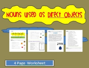 Direct Objects - Nouns - Worksheet
