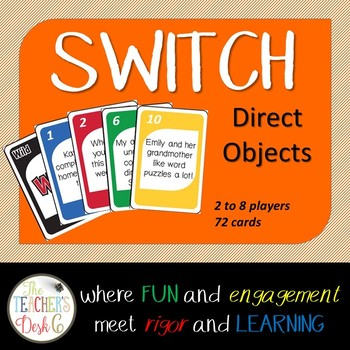 Direct Objects SWITCH ELA Card Game