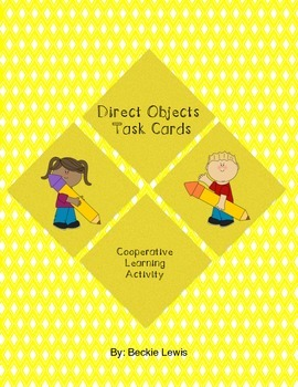 Direct Objects Task Cards