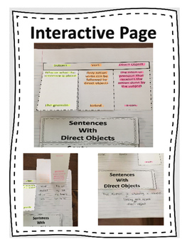 Direct Objects ~ Teaching Page, Interactive Practice, Quiz