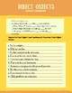 Direct Objects Worksheet (Spanish)