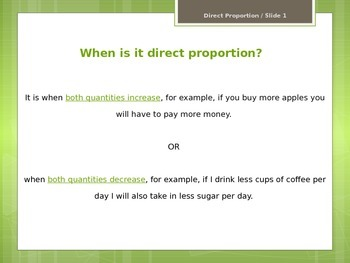 Direct Proportion (PPT Learner Notes)