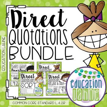 Direct Quotations Bundle