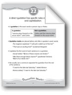 Direct Quotations: Quotation Marks, Capitals, Commas