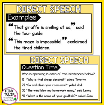 Direct Speech PowerPoint - For shared/modeled reading
