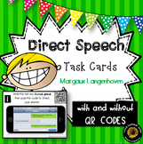 Direct Speech Task Cards with or without QR Codes