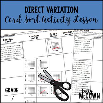 Direct Variation Card Sort Activity Lesson