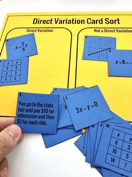 Direct Variation Card Sort