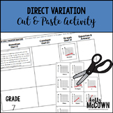 Direct Variation Cut & Paste Activity