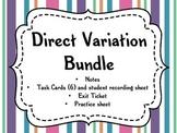 Direct Variation (Notes, Task Cards, Worksheet, Exit Ticket)