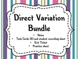 Direct Variation (Notes, Task Cards, Worksheet, Exit Ticket)