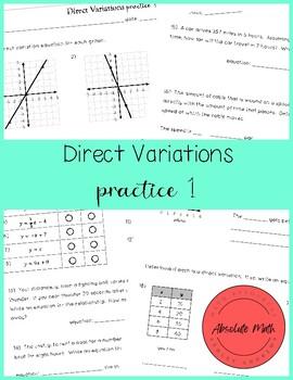 Direct Variation Practice
