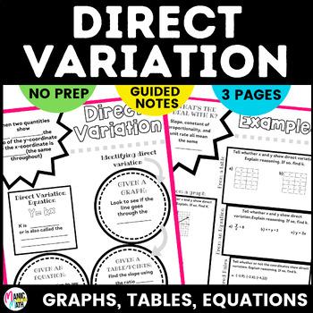 Direct Variation Sketch Notes