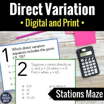 Direct Variation Stations Maze Activity