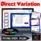 Direct Variation Task Cards with QR plus HW