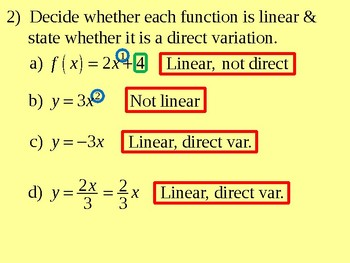 Direct Variation and Linear Functions