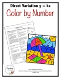 Direct Variation y=kx Color by Number Activity - Distance