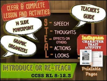 Direct and Indirect Characterization Bundle: Lesson, Activities, PowerPoint