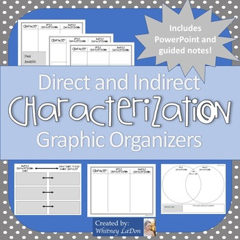 Direct and Indirect Characterization Graphic Organizers and Notes